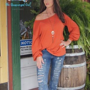 COPY - Dani On Off The Shoulder Ribbed Tunic